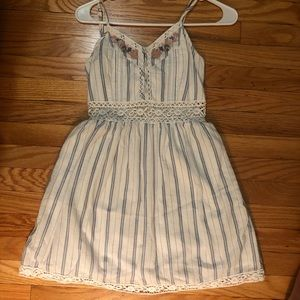 White and blue striped Abercrombie Dress